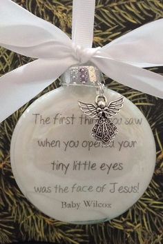 baby memorial ornament in memory christmas ornament miscarriage