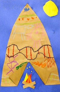 This lesson would have to do with Native Americans and I would do it around Thanksgiving and talk about not only the pilgrims but also the Native Americans. I would have the Teepee already cut out for them and they would just need to glue it on a piece of paper. Grade: Kindergarten, Book: The Very First American by: Cara Ashrose Standard: Heritage, #3 Heritage is reflected through the arts, customs, traditions, family celebrations and language.