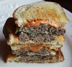 Paper Plates and China: Frisco Patty Melt--Wordless Wednesday Slider Sandwiches, Roast Beef Sandwiches, Vegan Sandwiches, Leftover Roast Recipe, Patti Labelle Recipes, Patty Melt Recipe, Recipe Paper, Frugal Meals, Easy Dinners