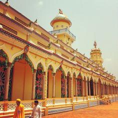 Cao Dai Temple at Tay Ninh , Vietnam
