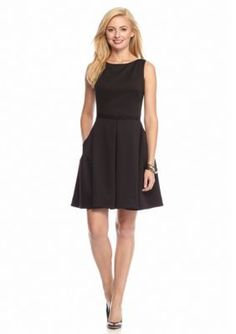 Taylor  Fit-and-Flare Scuba Dress