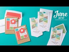 cardmaking video fromSTAMPIN' PRETTY... shows how to put together the kit ... great layout design possibilities/inspiration .. .how to line the envelopes too ...