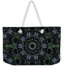 Green Mandala Weekender Tote Bag