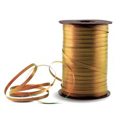 Gold Crimped Curling Ribbon - 500 Yards * Quickly view this special product, click the image : Wrapping Ideas