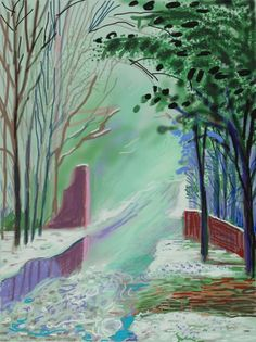 David Hockney found inspiration in spring at the Annely Juda Gallery. >> http://www.annelyjudafineart.co.uk/