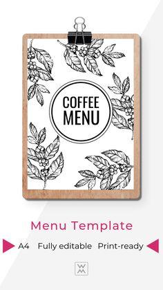 Coffee Shop Menu | Меню кофейни Coffee Shop Menu, Coffee Shops, Menu Template, Templates, Menu Online, Restaurant Menu Design, Coffee Ideas, Coffee Design, Food Menu
