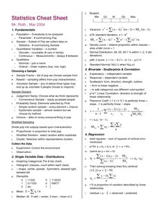 statistics symbols cheat sheet - Google Search