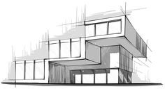 modern architecture sketches - Google Search