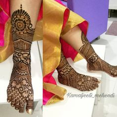 beautiful henna Mehandi Designs for brides-to-be