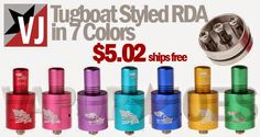 Vapor Joes - Daily Vaping Deals: TASTE THE RAINBOW:  COLORED TUGBOAT STYLE DRIPPERS...