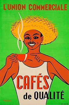 'L'Union Commerciale - Cafes de Qualite' - A4 Glossy Prin…