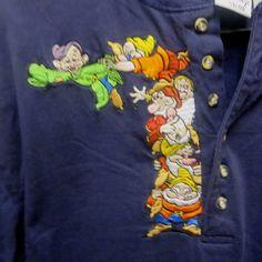 Vintage the Disney Store Embroidered Snow White Seven Dwarfs Shirt Sz M #DisneyStore
