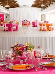 orange pink wedding ideas