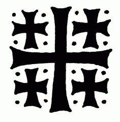 Jerusalem Cross, pen and ink, by Andrew Gould Jerusalem Cross, Modern Books, Cross Art, Christian Symbols, Christian Warrior, Arm Tattoos, Cross Tattoos, Art For Art Sake, Cross Designs