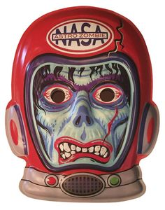 Vintage Halloween Costumes Scratch N' Scuff Deep Space Astro Zombie Vac-tastic Plastic Mask* -