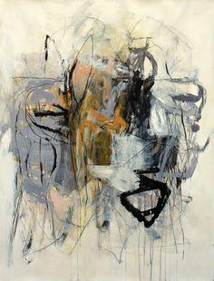 Julie Schumer Gray Landscape with Ochre I, mixed media on paper, 50 X 38 www.julieschumer.com
