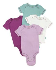 Disney Cuddly Bodysuit with Grow an Inch Snaps, Bambi Nature Solids 4 Pack,  Lilac/White/Teal/Purple, 3-6 Months Disney,http://www.amazon.com/dp/B005GTQN24/ref=cm_sw_r_pi_dp_GhRArb1HZRWWQB5B
