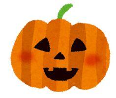 ハロウィンのかぼちゃのランタンを描いたイラスト。にっこり微笑んだ表情がかわいいデザイン。