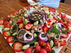 Spinach Watermelon Strawberry Salad – So Summery!