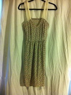 Urban Outfitters Reformed CHIFFON STRAPS KNEE LENGTH FLORAL SUMMER DRESS Size 8…