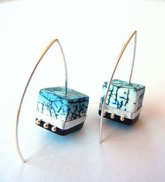 """Out of the Blue"" - matching earrings 
