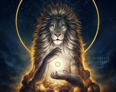A King's Path - Signed Fine Art Print - Wall Decor - Fantasy Lion Galaxy Artwork - Painting by Jonas Jödicke Mythical Creatures Art, Fantasy Creatures, Animal Espiritual, Spiritual Animal, Lion Painting, Lion Wallpaper, Lion Pictures, Leo Lion, Lion Art