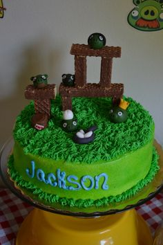 Angry Birds Pig Fort Cake