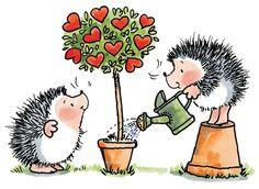 Hedgehogs (✿´ ꒳ ` )ノ By Penny Black Hedgehog Art, Hedgehog Drawing, Penny Black Karten, Penny Black Cards, Animal Drawings, Cute Drawings, Art Fantaisiste, Wood Stamp, Whimsical Art