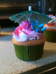 Luau themed cupcake!