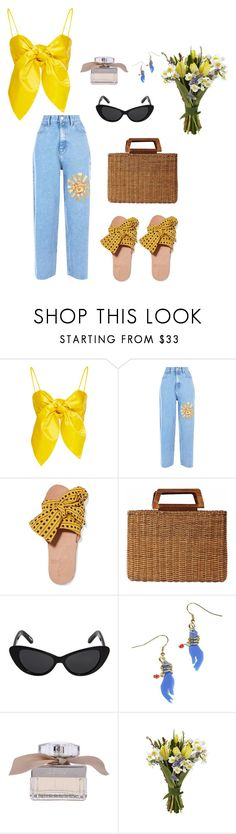 """Sunshine Babe"" by sara-bendaoud ❤ liked on Polyvore featuring Leal Daccarett, Brother Vellies, Salvatore Ferragamo, Elizabeth and James and Chloé"