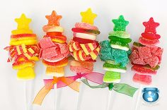 10 Star topped Mini Candy Kabobs