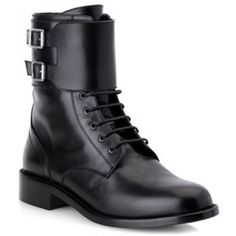 YSL Saint Laurent Patti boots Heel measures approximately 40mm/ 1.5 inches. Hedi Slimane's knowledge of rock 'n' roll history informs his work at Saint Laurent. Named for punk icon Patti Smith, these leather army boots exude the Parisian label's edgy ethos. Wear yours with tucked-in skinny jeans.  This item is worn but still in good condition.  The most comfortable versatile boots you will ever wear. Unisex. Saint Laurent Shoes Combat & Moto Boots