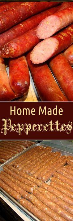 Home Made Pepperettes : recipezazz Jerky Recipes, Venison Recipes, Dog Food Recipes, Cooking Recipes, Salami Recipes, Home Made Sausage, Sausage Making, Homemade Sausage Recipes, Summer Sausage Recipes