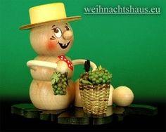 <!--11-->Räuchermann Räucherwurm Erzgebirge Wein-Rudi