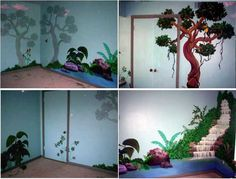 Jungle Bedroom Mural Painting