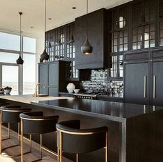 High drama kitchen #kitchendecor