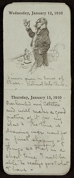 Citation: Pocket diary, 1910 Jan. . F. Luis Mora papers, Archives of American Art, Smithsonian Institution.