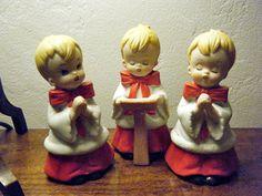 Choir Boys, Vintage Christmas Figurines