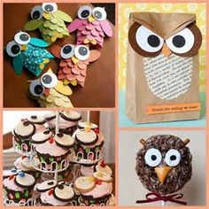 owl crafts and owl party ideas