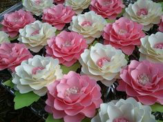Handmade Paper Flowers for Weddings - Parties - Baby Showers