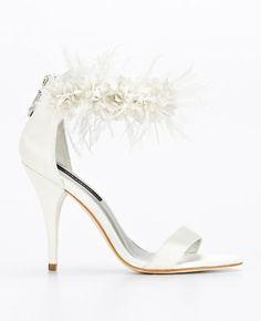 Katrina Floral Ankle Strap Sandals | Ann Taylor