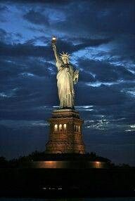 Lady Liberty shines for all to see.