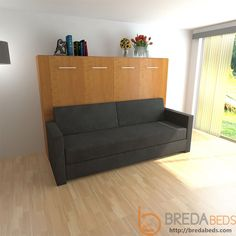 NEW:+Horizontal+InLine+Murphy+Bed+and+InLine+Sofa+by+BredaBeds// so I  figured it out. For THIS one you remove both cushions to get the murphy bed  to go over ...