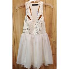 Ark & Co. Sequined Party Dress -Color: Cream white -Size: Small -NWT Never worn -Perfect dress for that special occasion! *Please disregard black speck visible in some photos, it is a defect of my camera and not the item pictured, thanks! * Ark & Co Dresses Mini