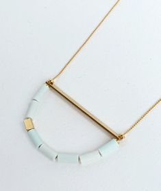 Love this necklace inspired by the hull of a boat.  €28.00
