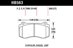Hawk HP Plus Brake Pads for Grand Cherokee - HB563N.656
