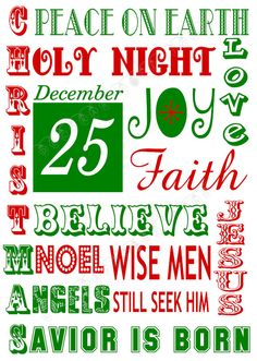 Religious Christmas Subway Art Printable by DecorableDesigns
