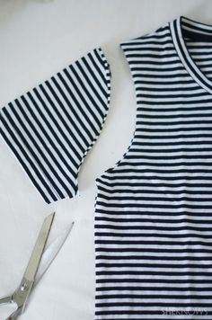 Make any tee into a summer tank with this cute DIY