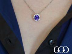 Purple Sapphire Pendant