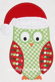 Christmas Owl Applique Design